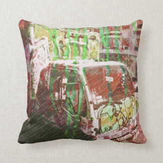 Truck-A-Licious Bang ( graffiti Love ) Cushions