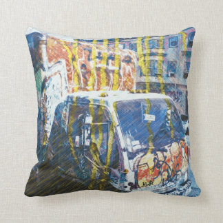 Truck-A-Licious Bang ( graffiti Love ) Throw Cushions