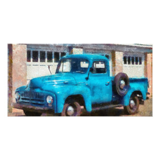 Truck - An International old truck Personalized Photo Card