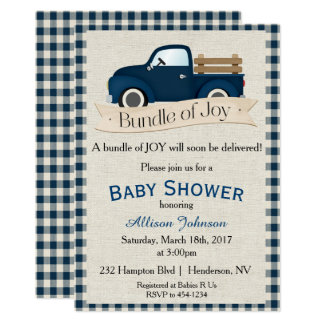 Truck Baby Shower Invitation