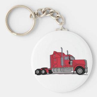 Truck Basic Round Button Key Ring