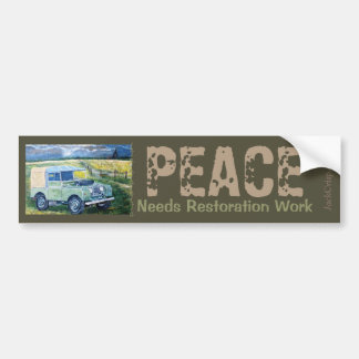 """Truck Cab ""FREYA"" ~PEACE Needs Restoration Work. Bumper Sticker"