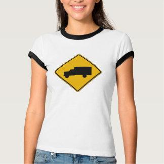 Truck Crossing, Traffic Warning Sign, USA T-Shirt