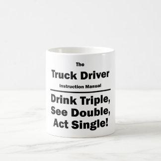 truck driver basic white mug