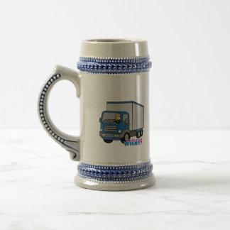 Truck Driver - Blue Truck Beer Steins