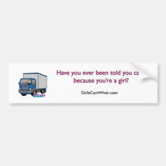 Truck Driver - Blue Truck Car Bumper Sticker