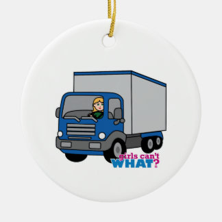 Truck Driver - Blue Truck Christmas Ornament