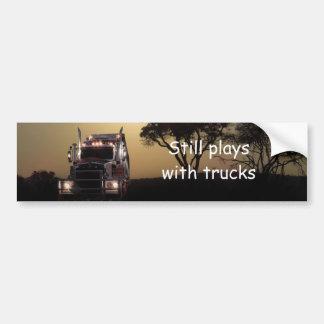 Truck driver bumper sticker