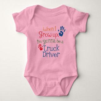 Truck Driver (Future) Child Baby Bodysuit
