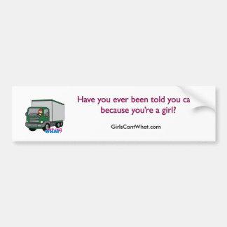 Truck Driver - Green Truck Car Bumper Sticker