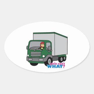 Truck Driver - Green Truck Stickers