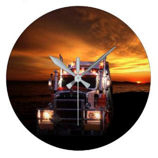 Truck driver large clock