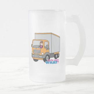 Truck Driver Glass Beer Mugs