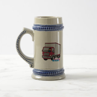 Truck Driver - Red Truck Beer Steins