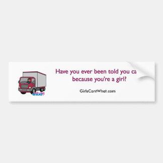 Truck Driver - Red Truck Car Bumper Sticker