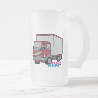 Truck Driver - Red Truck Glass Beer Mugs
