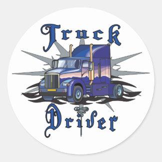 Truck Driver Round Sticker
