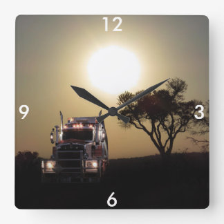 Truck driver square wall clock
