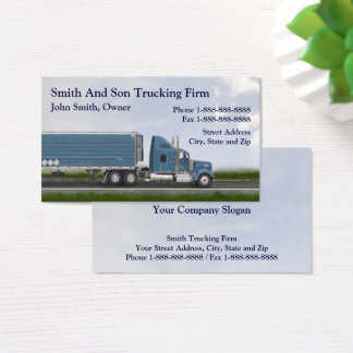 Truck Driver Trucking Firm Business Card