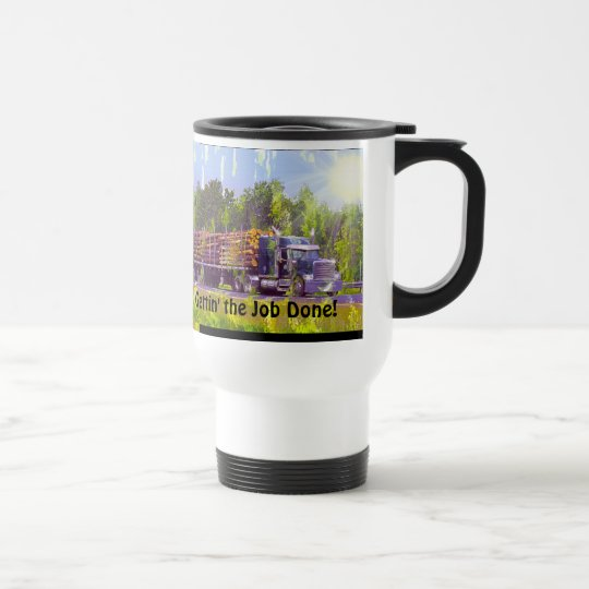 Truck-Drivers Coffee Break Drinking Mug