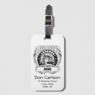 Truck Driving Legends Are Born In June Luggage Tag