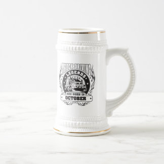 Truck Driving Legends Are Born In October Beer Stein
