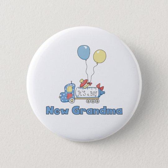 Truck New Grandma Baby Boy 6 Cm Round Badge
