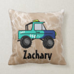 Truck Personalised Throw Pillow