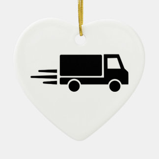 Truck speed christmas ornament