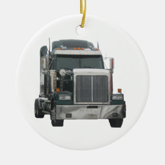 Truck tractor christmas ornament
