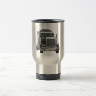 Truck tractor stainless steel travel mug