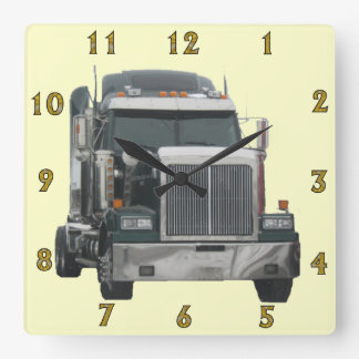 Truck Tractor Wall Clock