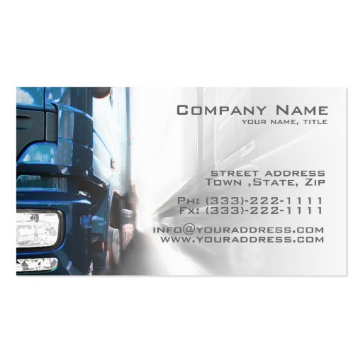 Blue Truck Transportation & Logistics Card