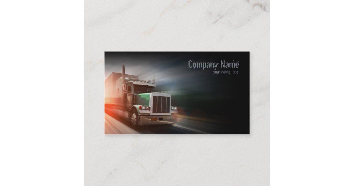 Truck - transportation & logistics business card | Zazzle co uk