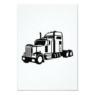 Truck vehicle 9 cm x 13 cm invitation card