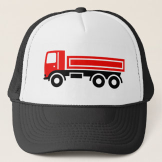 Truck with dump truck trucker hat
