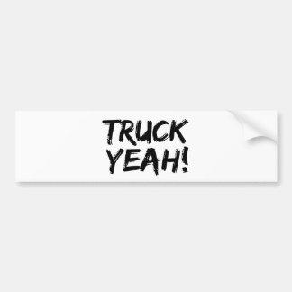 Truck Yeah Car Bumper Sticker