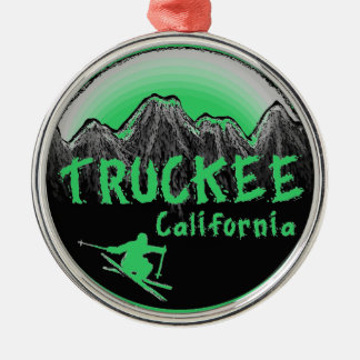 Truckee California artistic skier Christmas Ornament