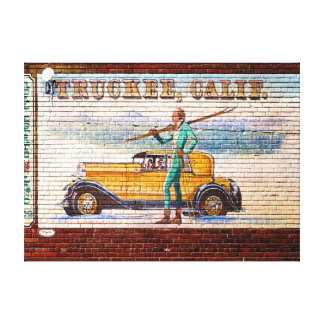 Truckee California Mural 2012 Stretched Canvas Prints