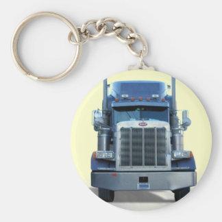 trucker basic round button key ring