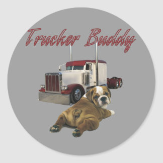 Trucker Buddy Round Sticker