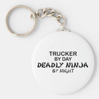 Trucker Deadly Ninja by Night Basic Round Button Key Ring