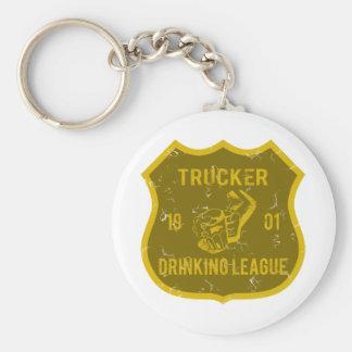 Trucker Drinking League Basic Round Button Key Ring