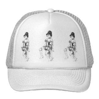 Trucker Hat Dance Hall Girl on Frt
