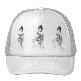 Trucker Hat Dance Hall Girl on Frt