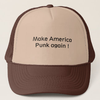 Trucker hat for a punk lover