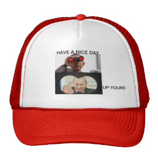 Trucker Hat have a nice day by highsaltire