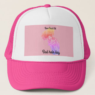 trucker hat,pink,bad hair day trucker hat