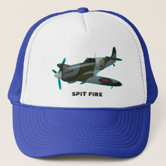 Trucker Hat spit fire by highsaltire