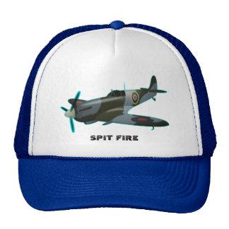 Trucker Hat spit fire by highsaltire